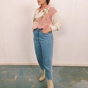 Fun 80s soft tones sweater